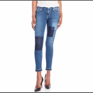 Joe's Jeans Daisy Patch Skinny Ankle Jeans